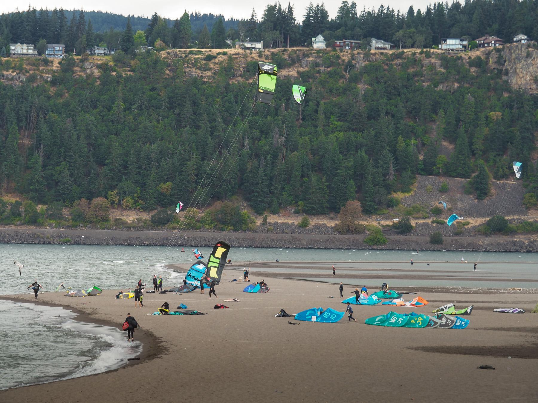 Hood River, Windsurfer und Kite-Eldorado