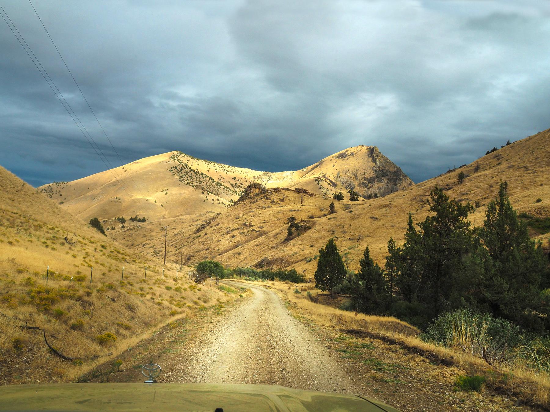 Fahrt ins Hinterland, auf der Suche nach einem Shortcut zu den Painted Hills