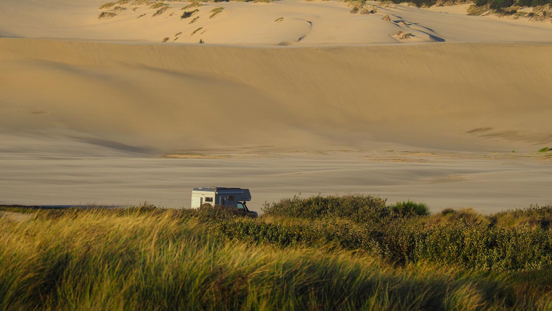 Übernachtungsplatz in den Dünen