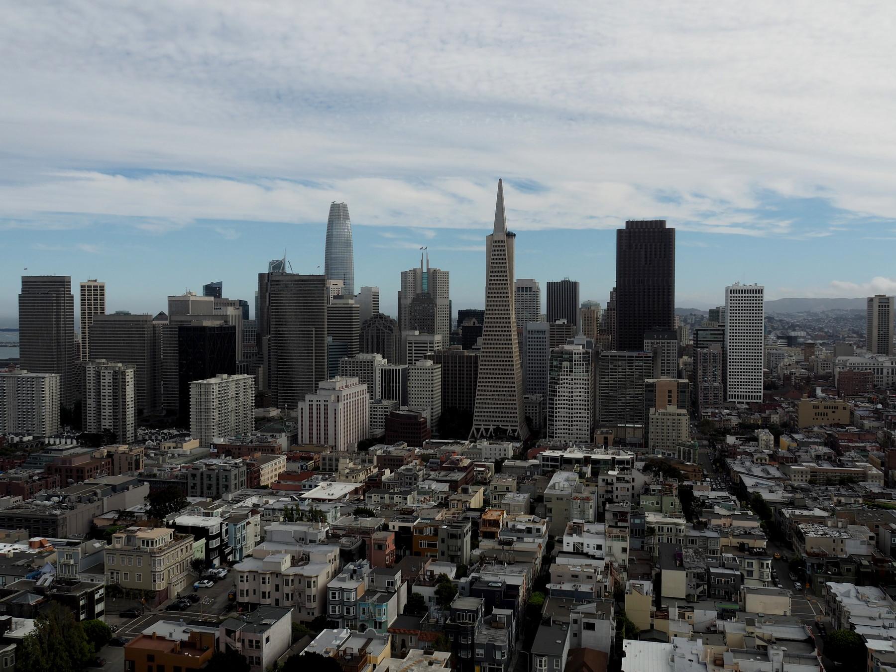Blick auf San Francisco vom Coit Tower