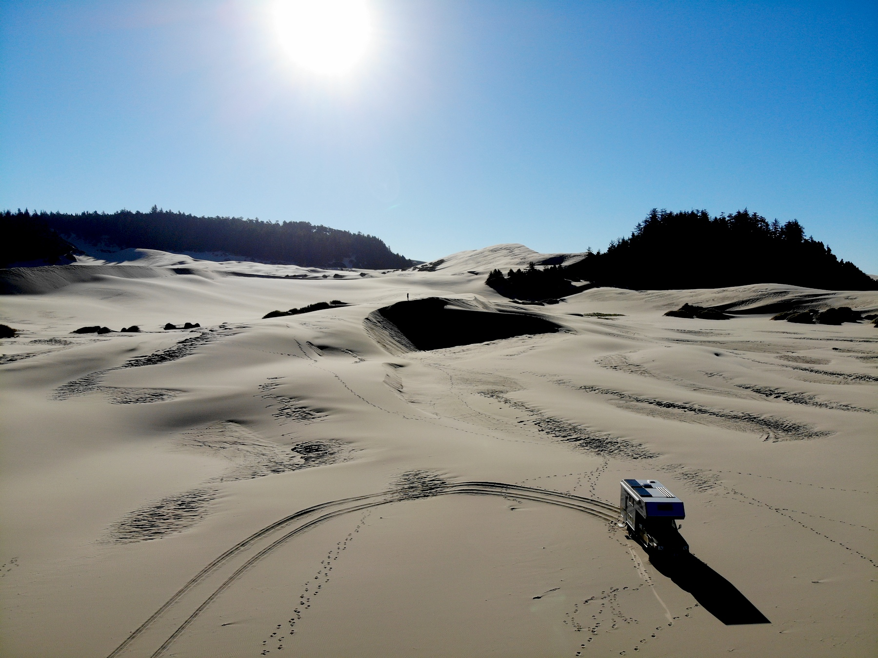 Toyota im Sand ...