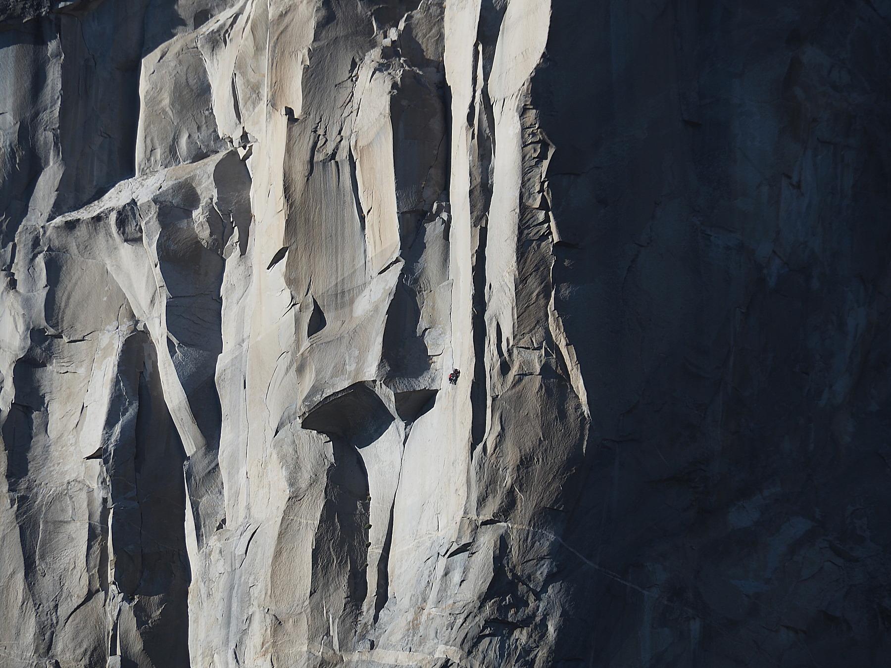 Kletterer in der Wand der Wände
