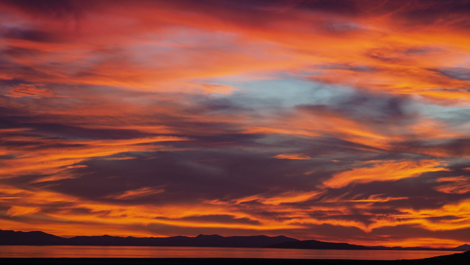 Toller Sonnenuntergang auf Antilope Island