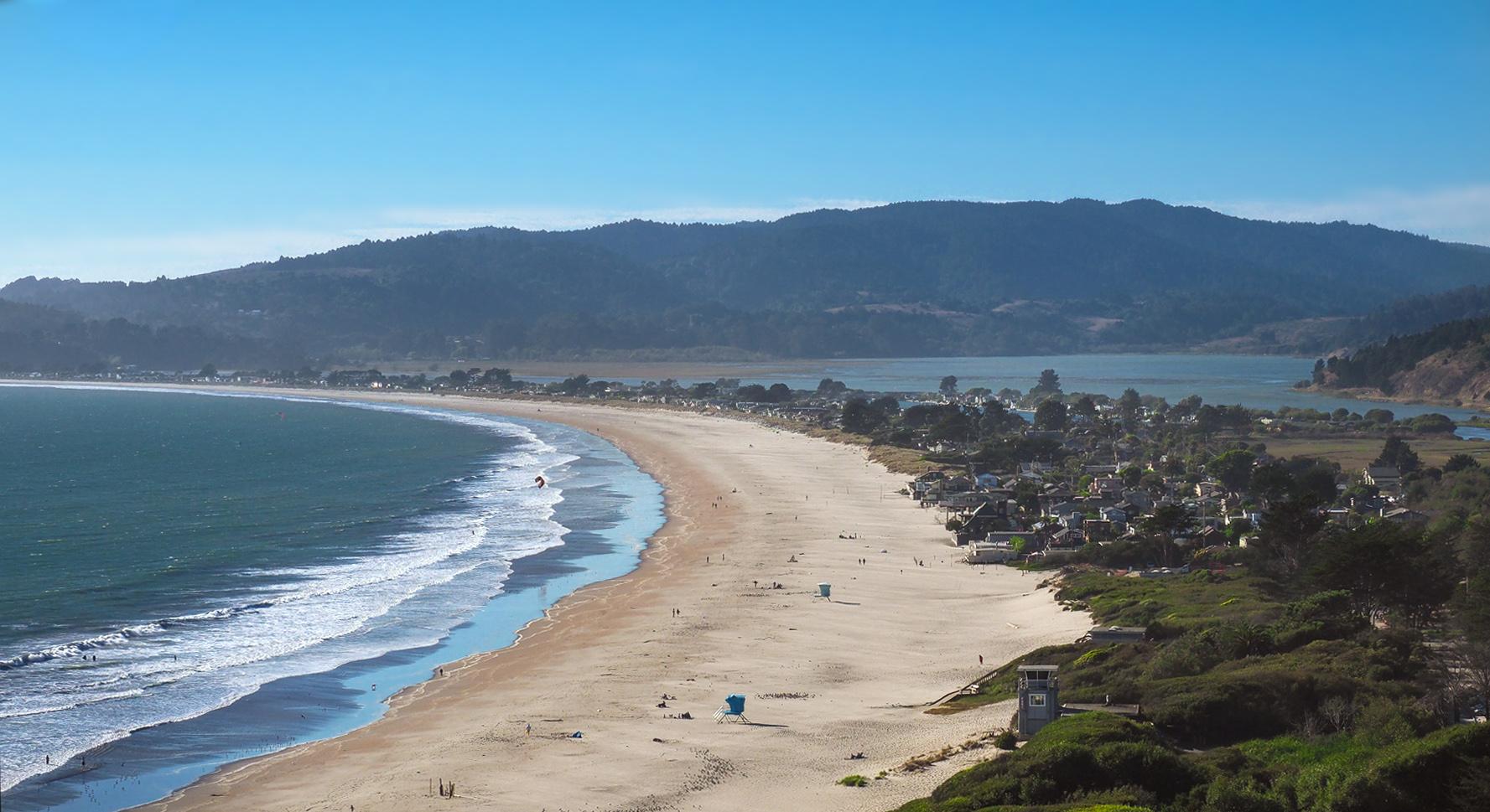 Berühmte Stinson Beach kurz vor San Francisco