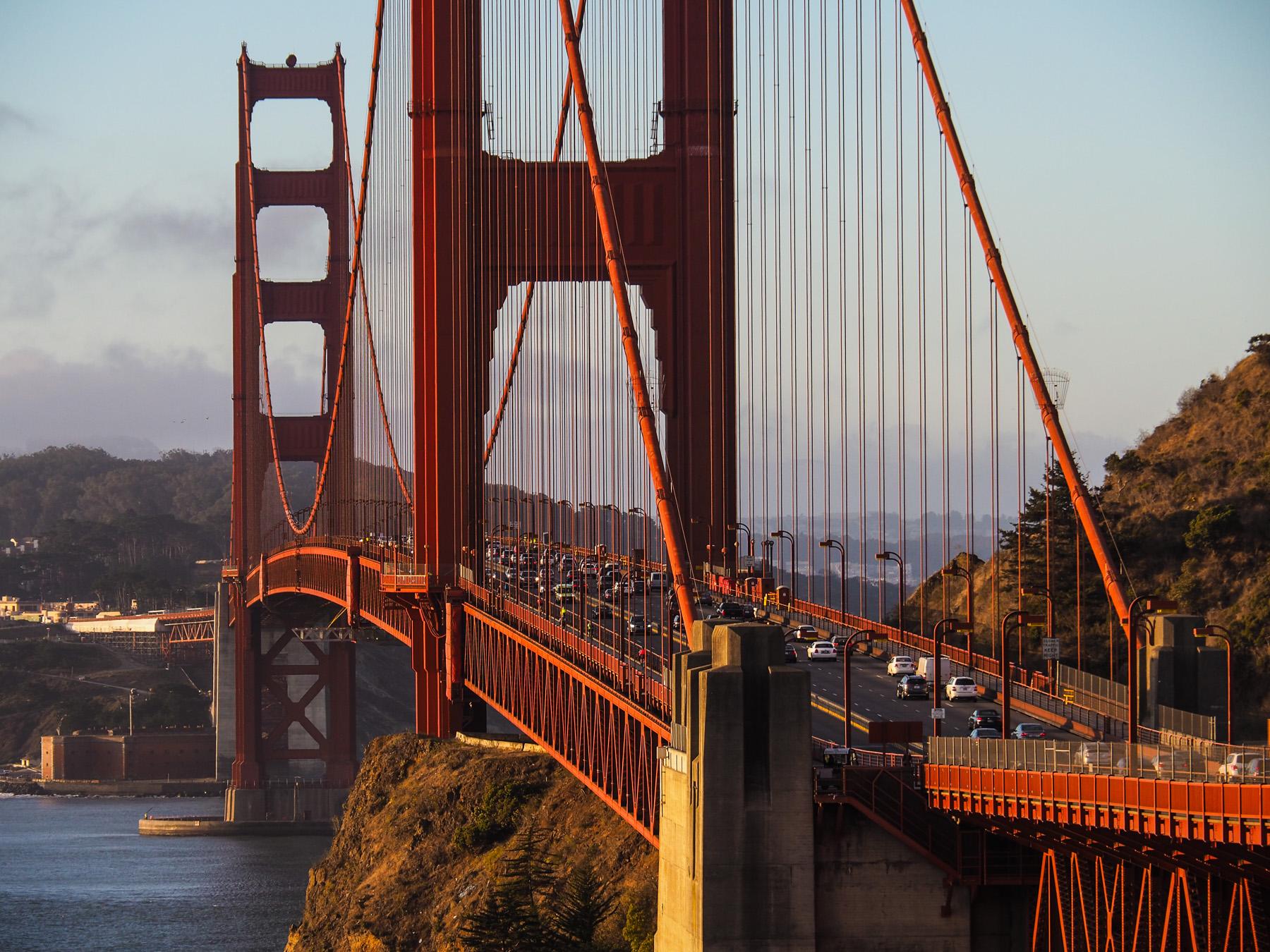 Morgens an der Golden Gate Bridge