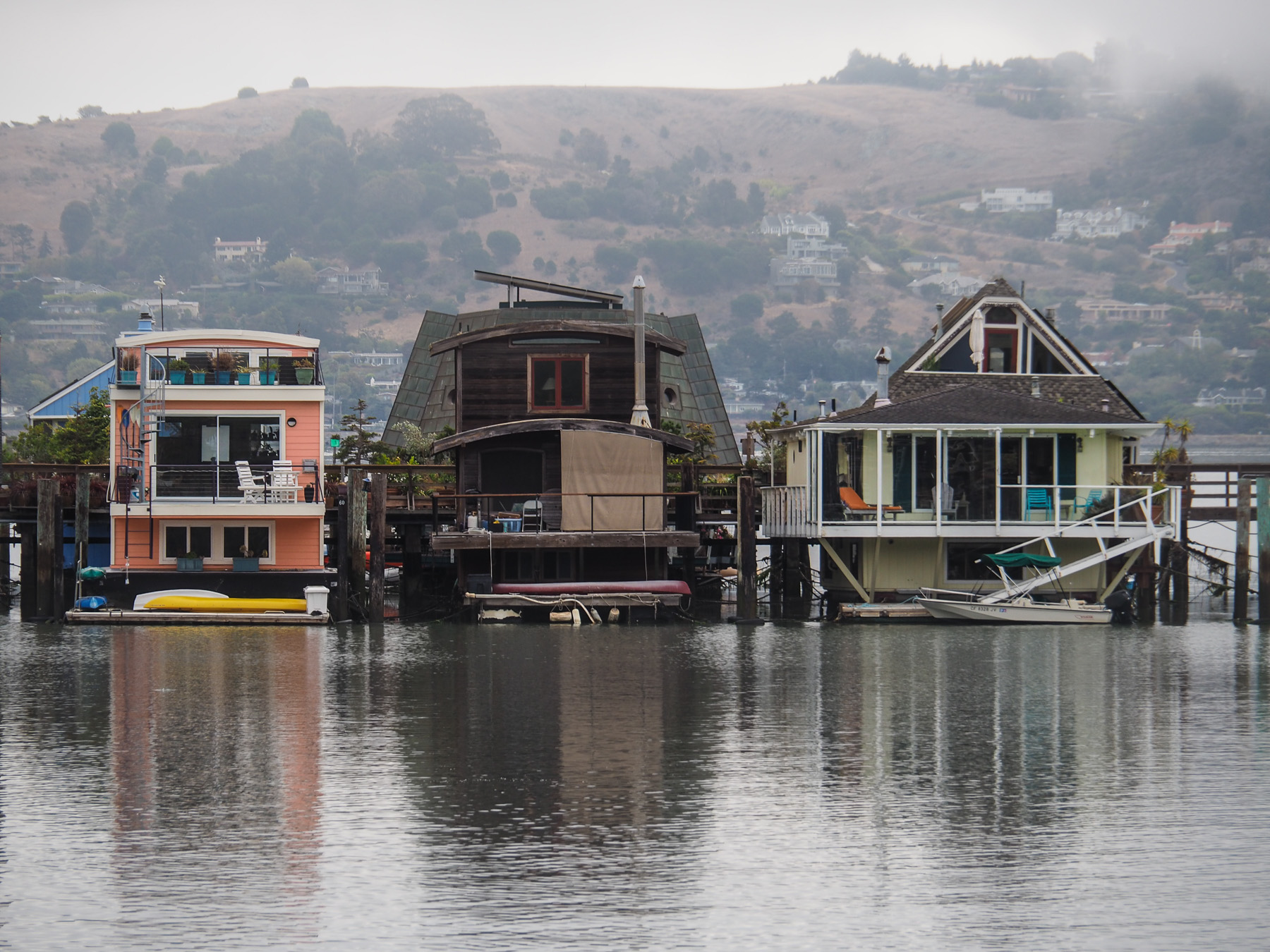 Hausboote in Sausalito