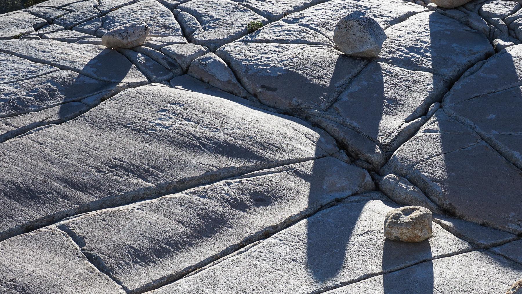 Glatt geschliffener Granit