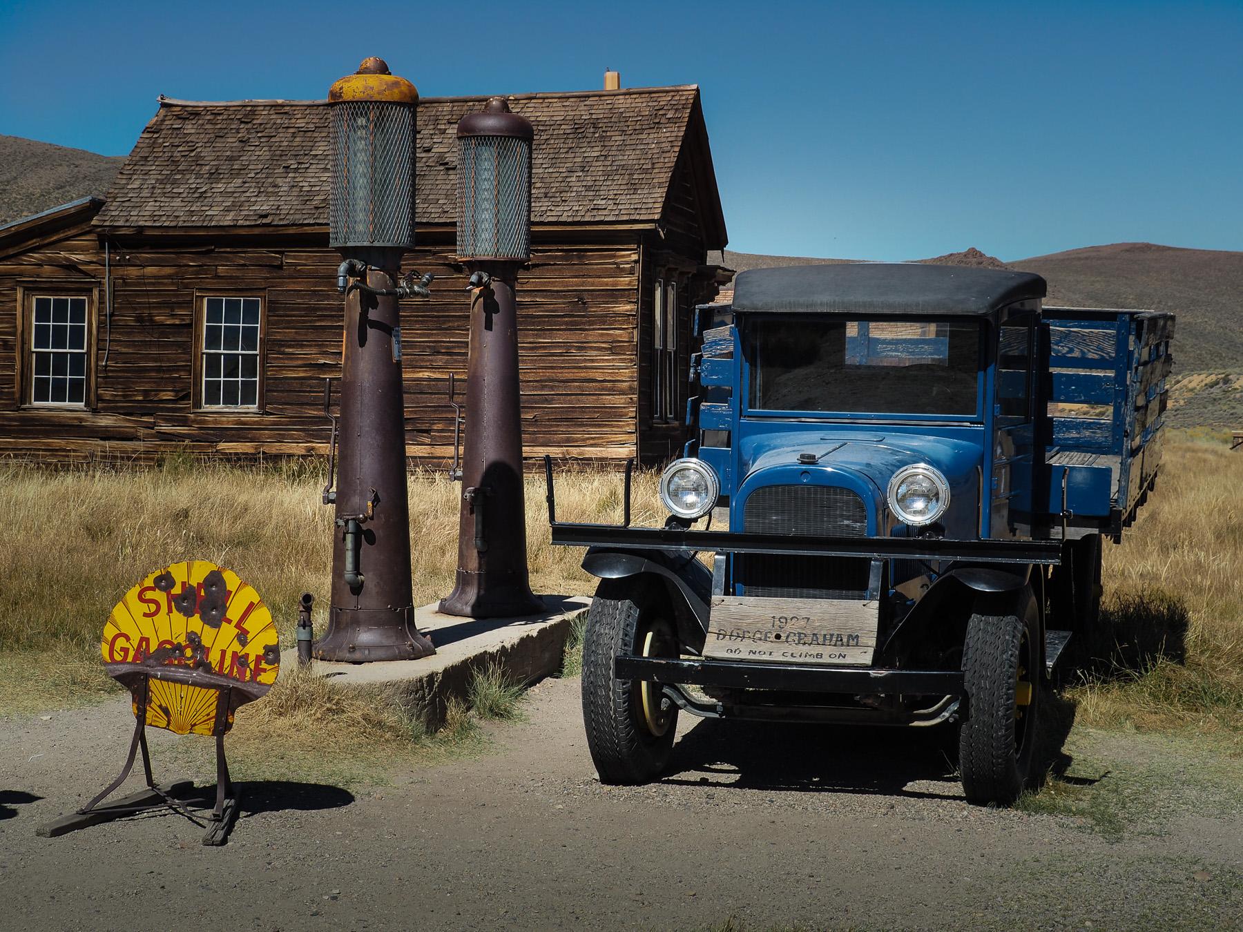 Tankstelle in der Ghosttown Bodie