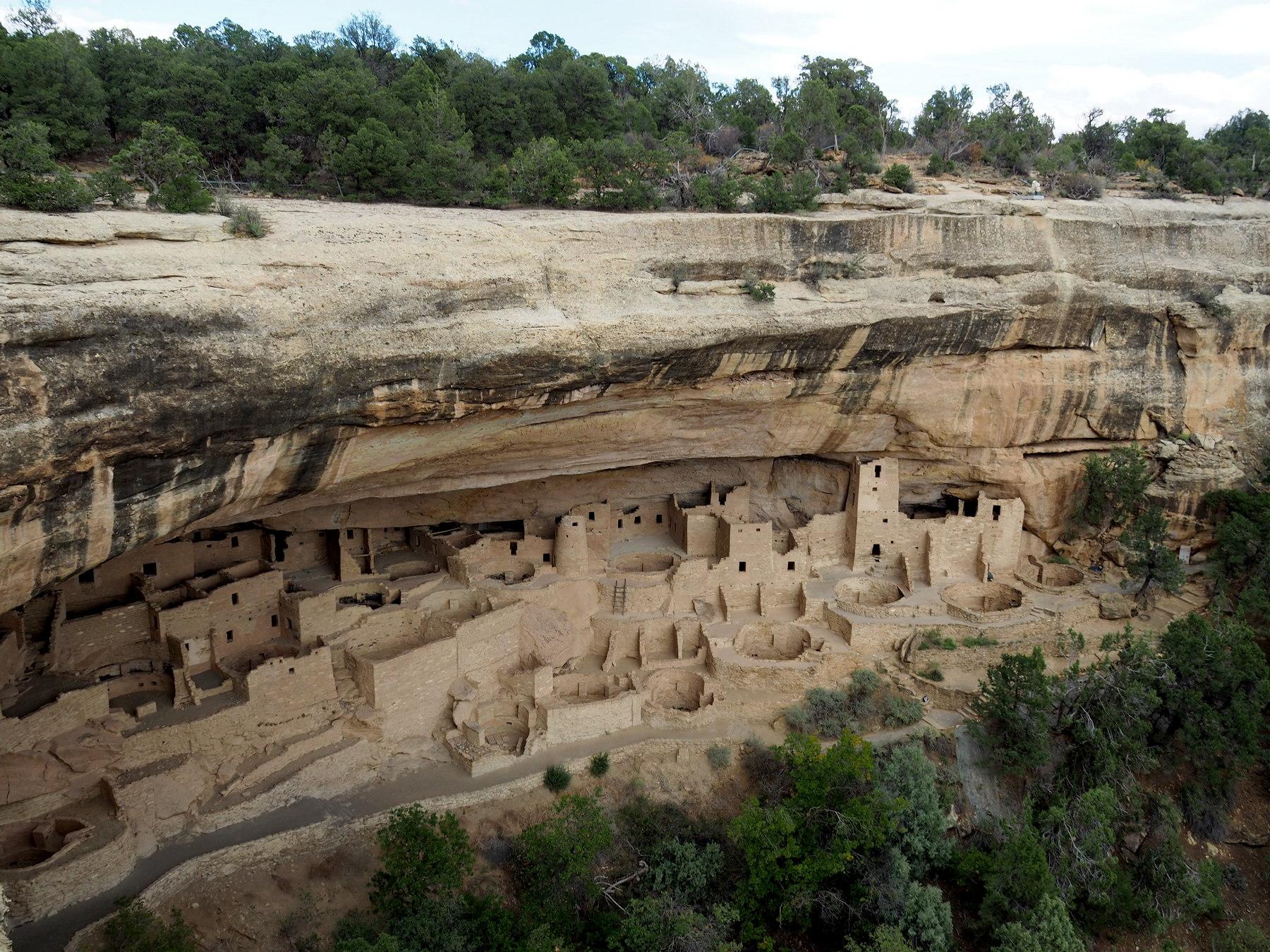 Eine der größeren Siedlungen in Mesa Verde