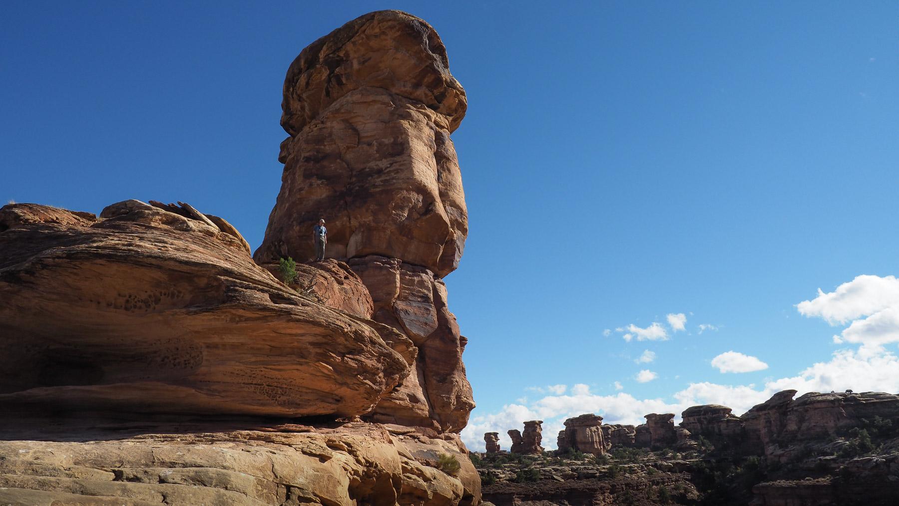 Georg's Kletterpartie zu einem der Türme