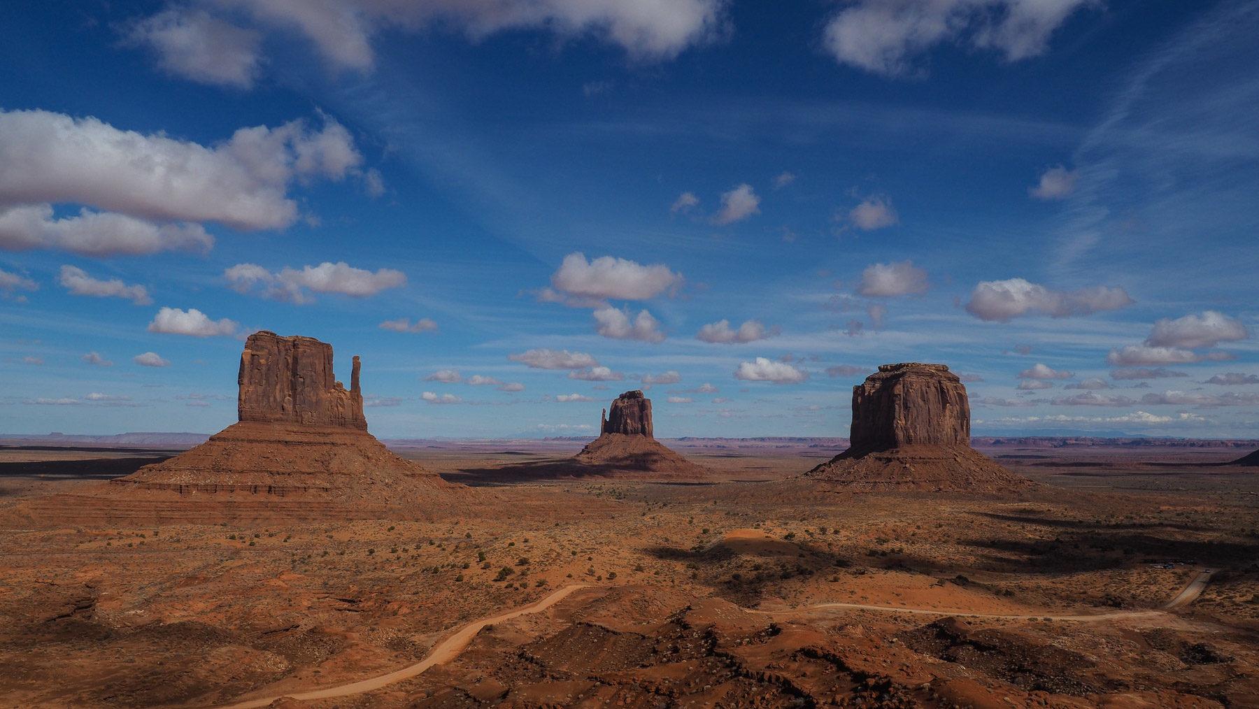 Mühsame 14 Meilen auf sehr schlechtem Weg durch Monument Valley