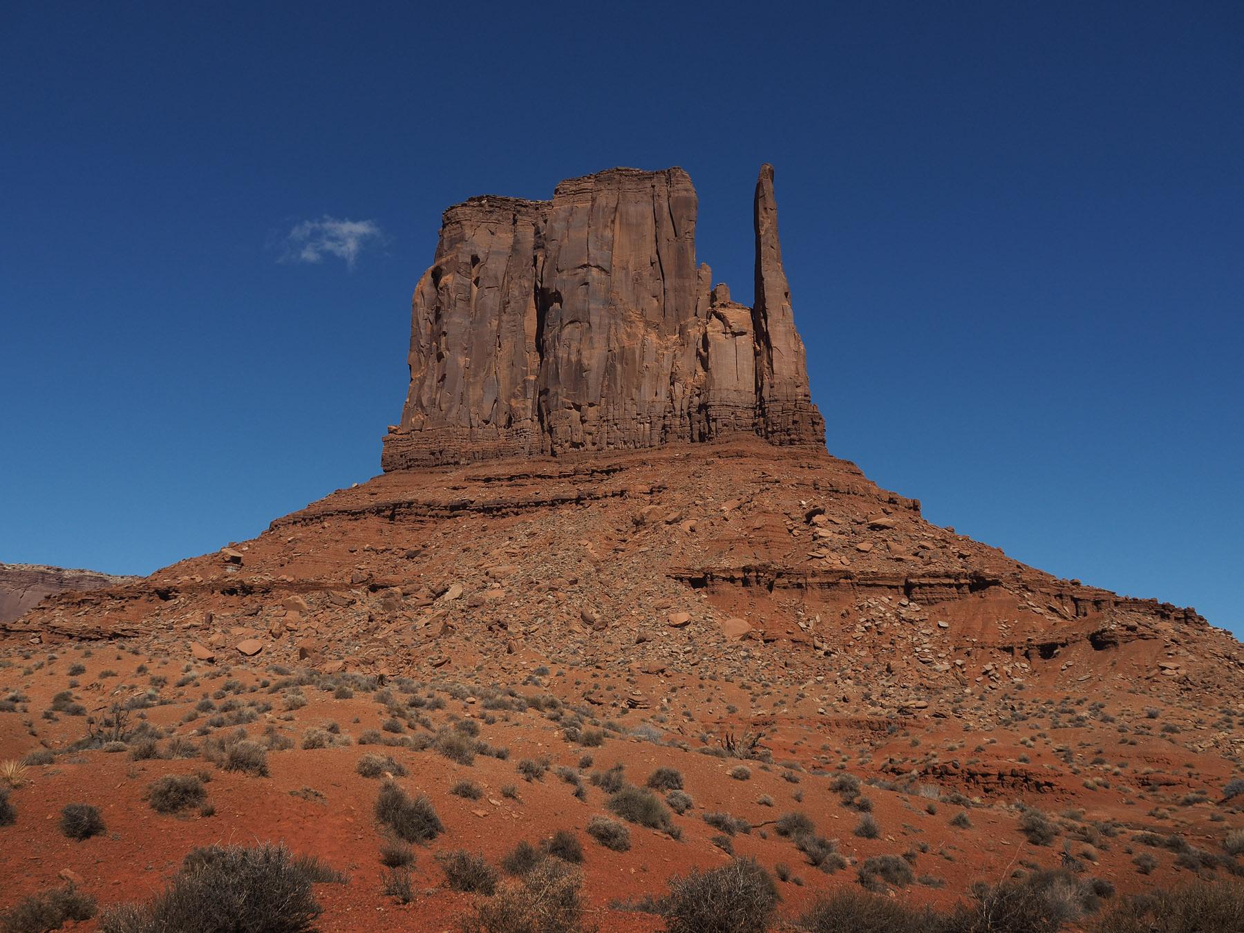 West Mitten Butte in Monument Valley