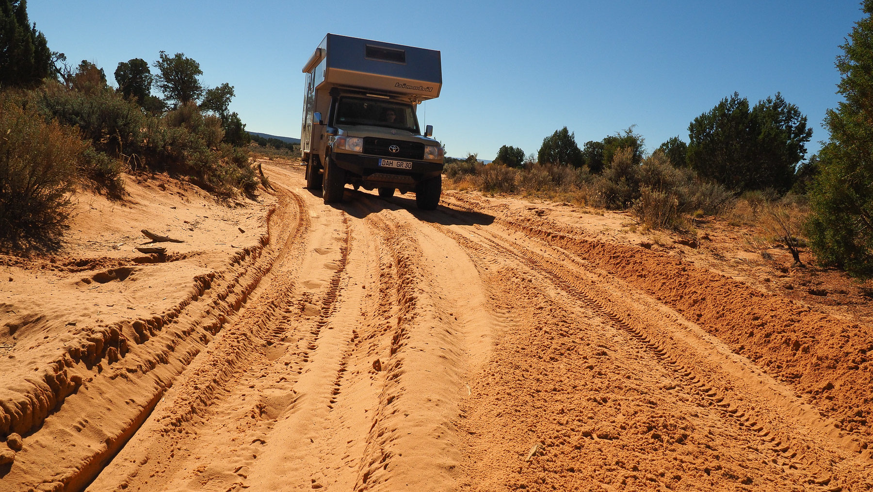 Unterwegs auf Sandpisten