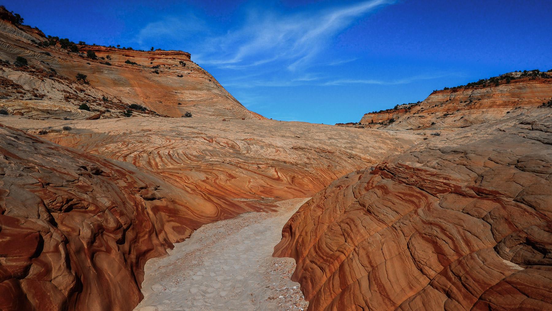Völlig abgelegene einsame Wanderung in den Big Horn Canyon