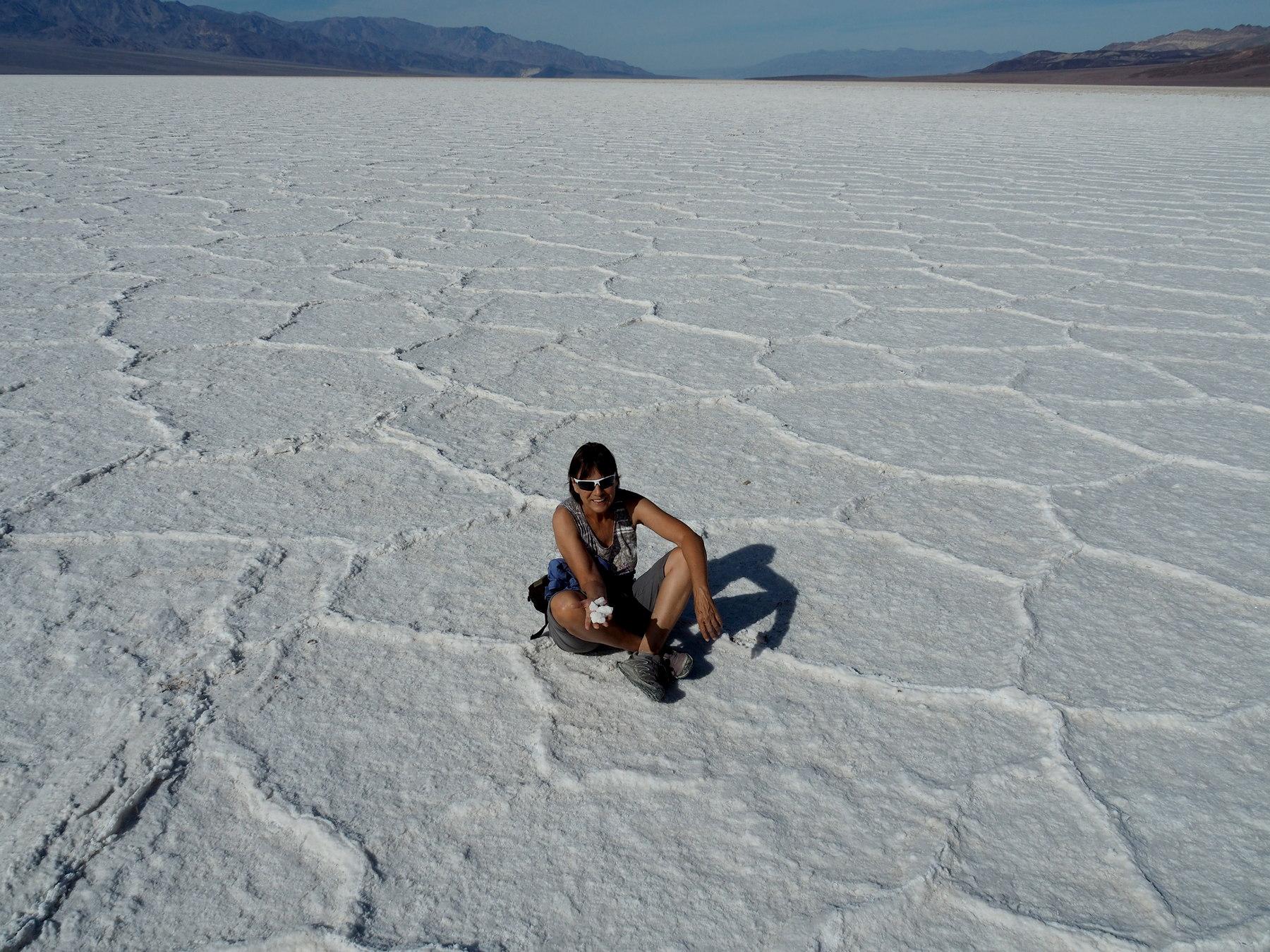 Badwater, pitoreske Salzebene