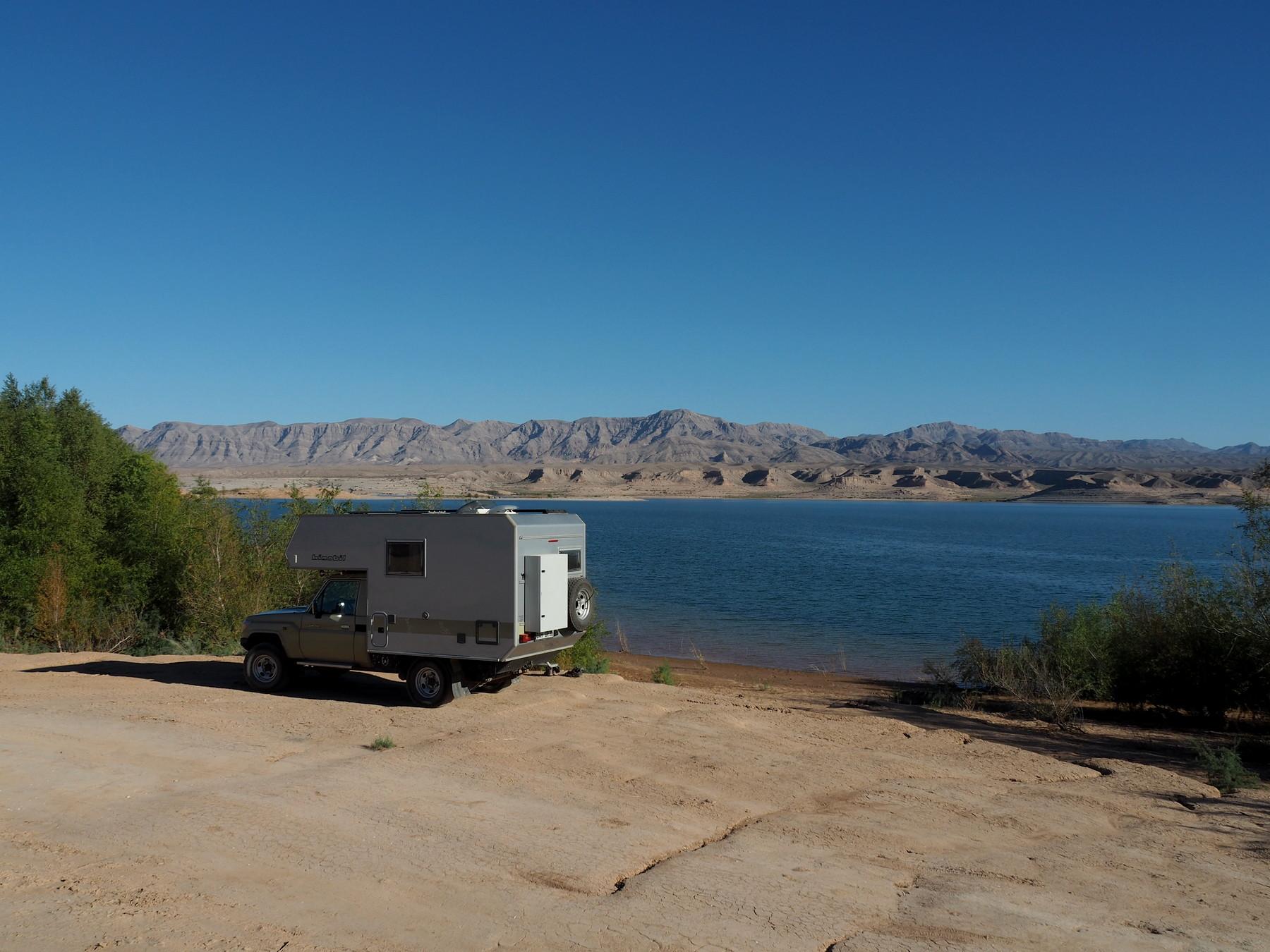 Übernachtungsplatz am Lake Mead