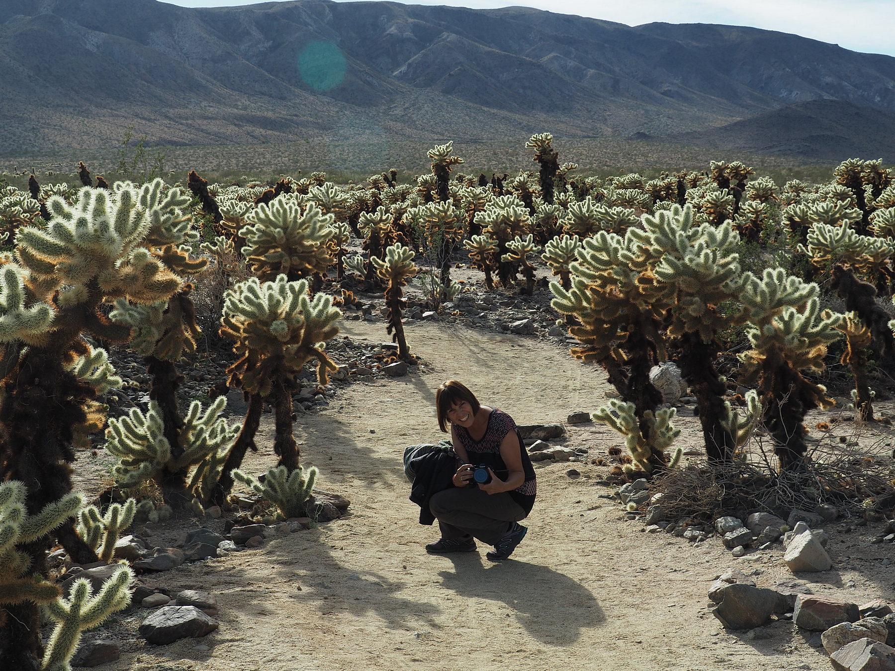 Monika im Cactus Garden