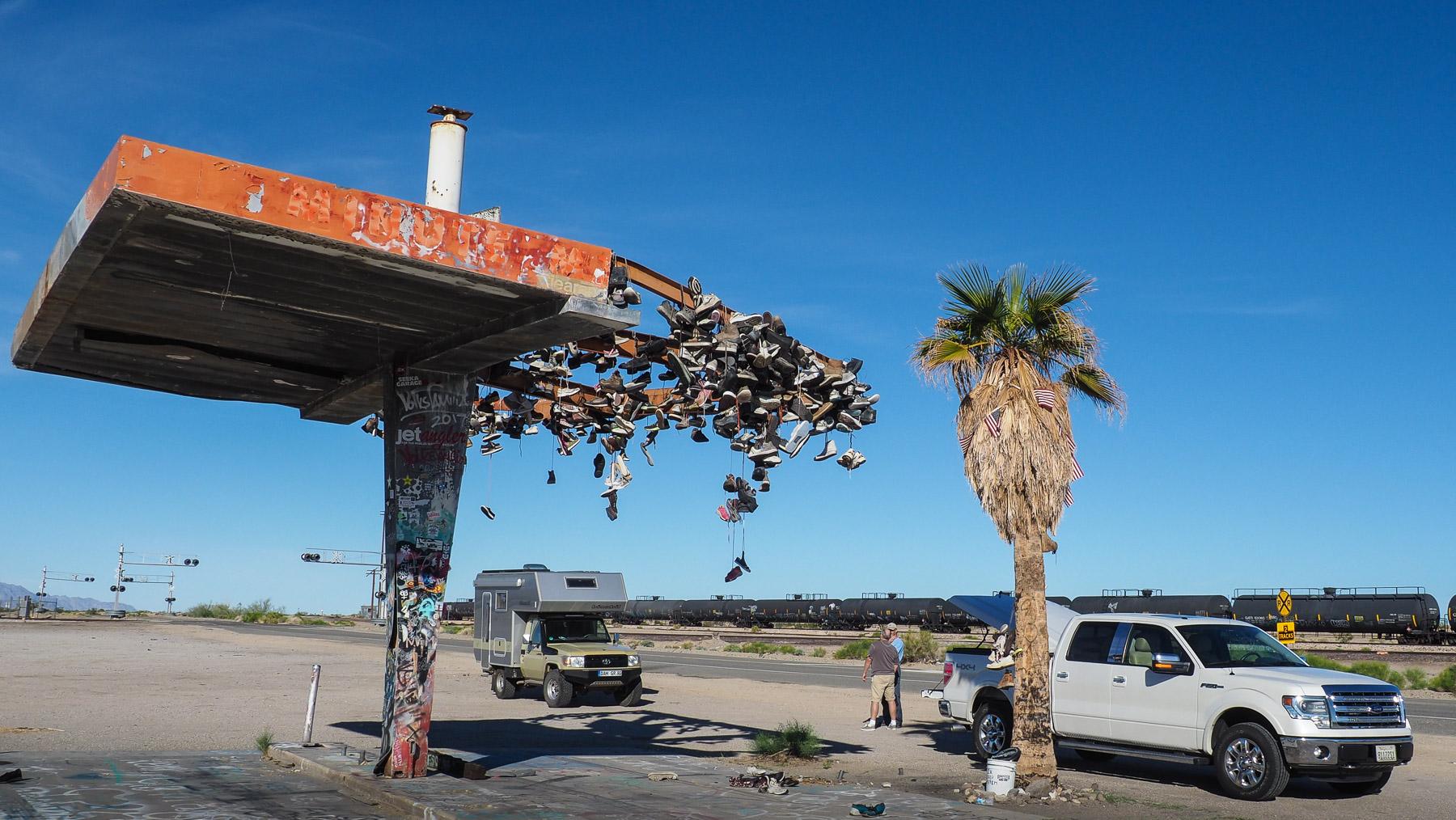 Schuh-Tankstelle