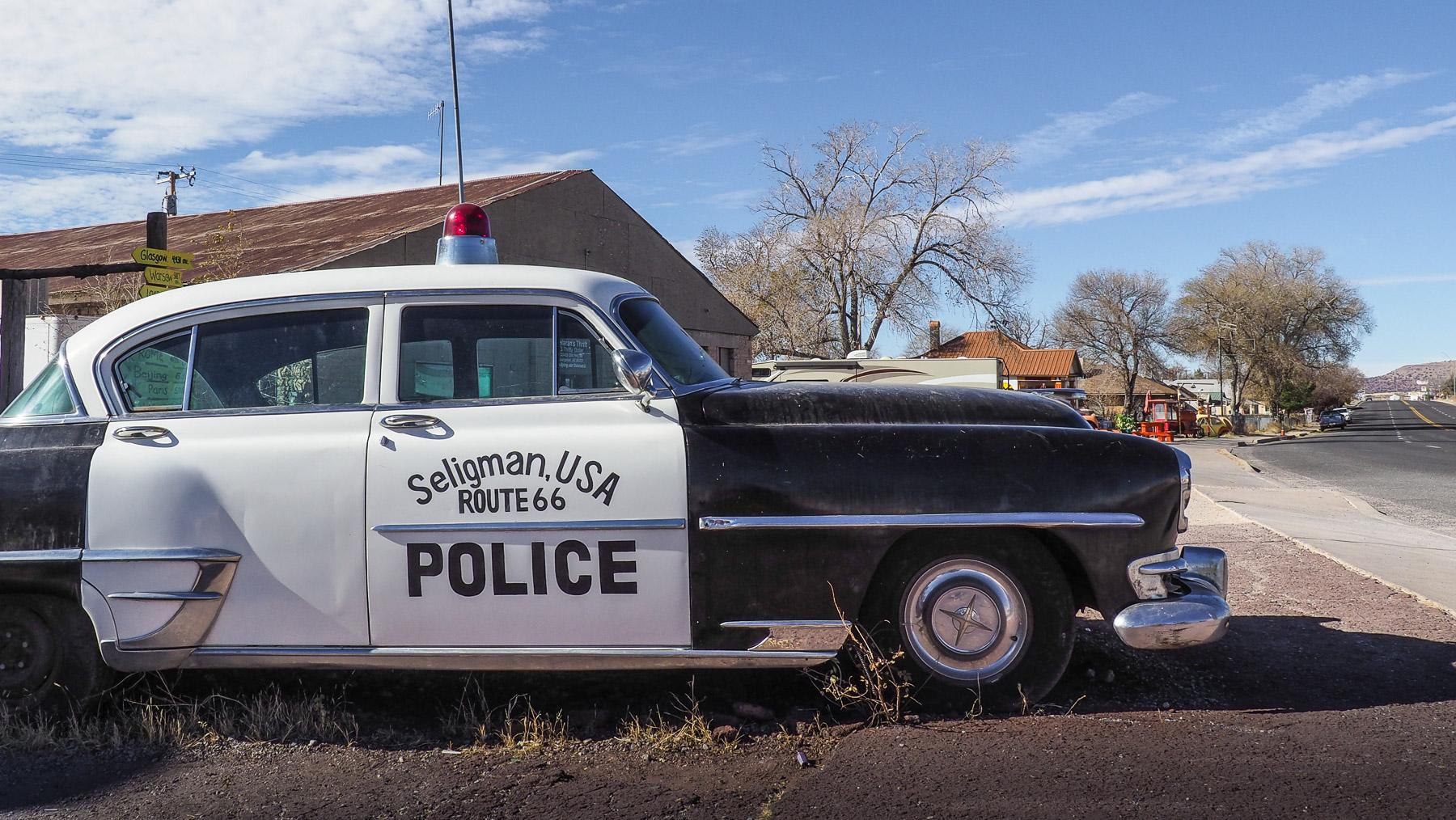 Polizeiauto in Seligman