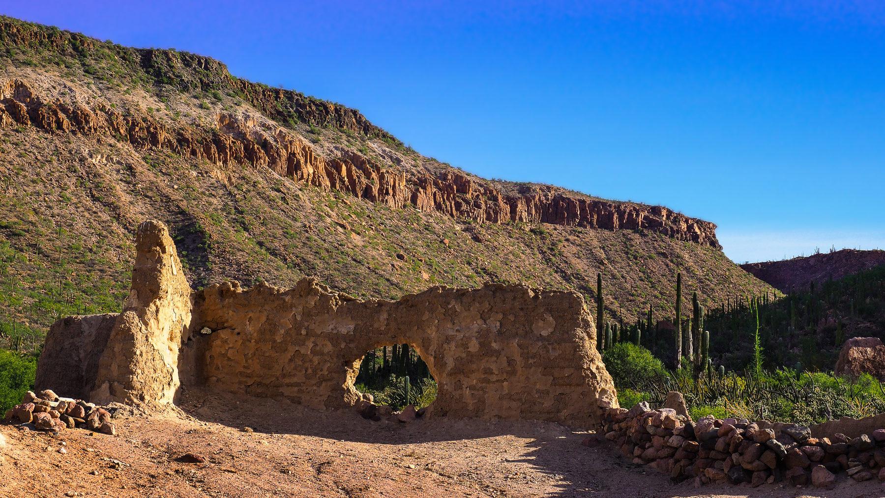 Die Reste der ersten Mission aus dem 17ten Jahrhundert