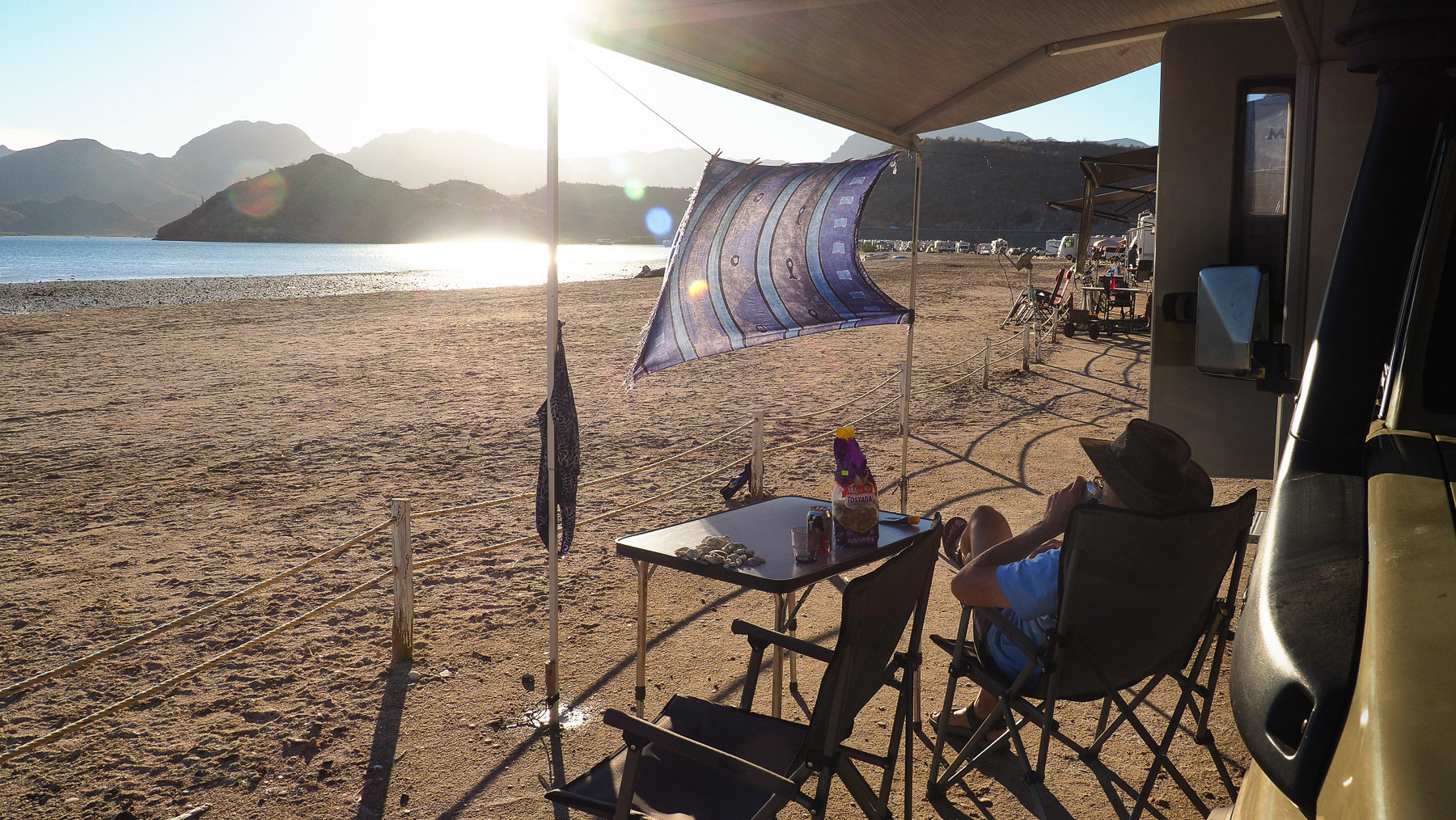 Schöne Tage an der Plaja Santispac