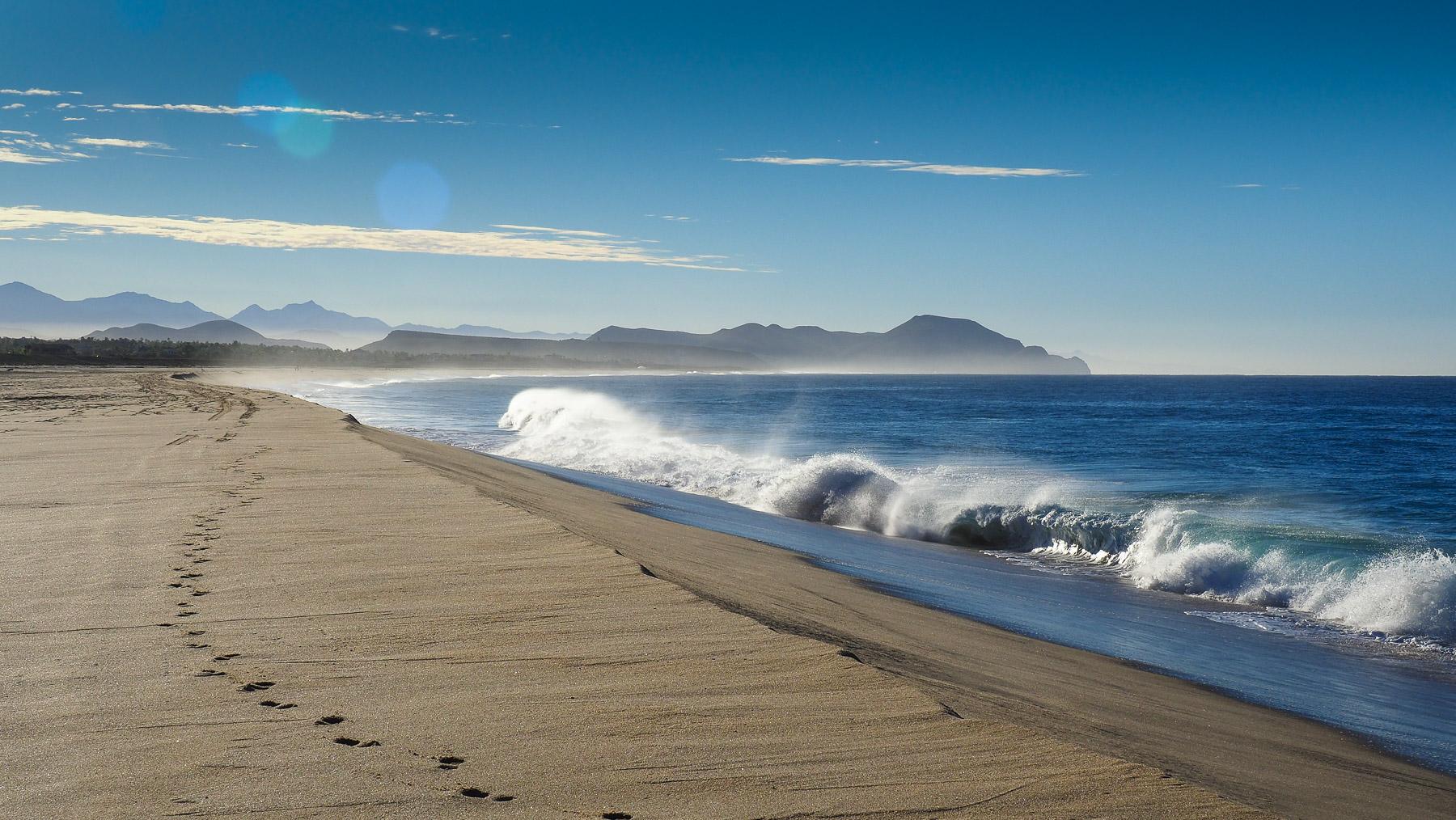 Endlose einsame Strände an der Baja Sud