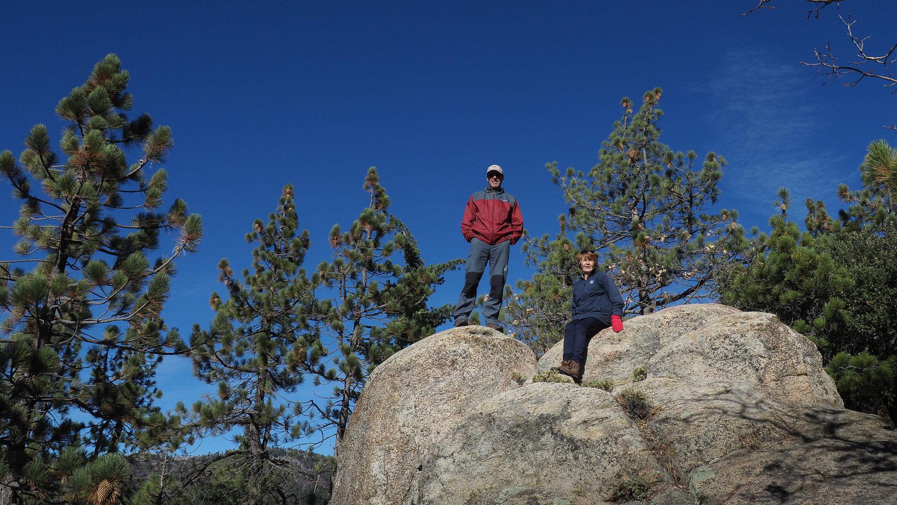 Kleine Wanderung mit Ingrid bei ihrer Hütte in den Bergen