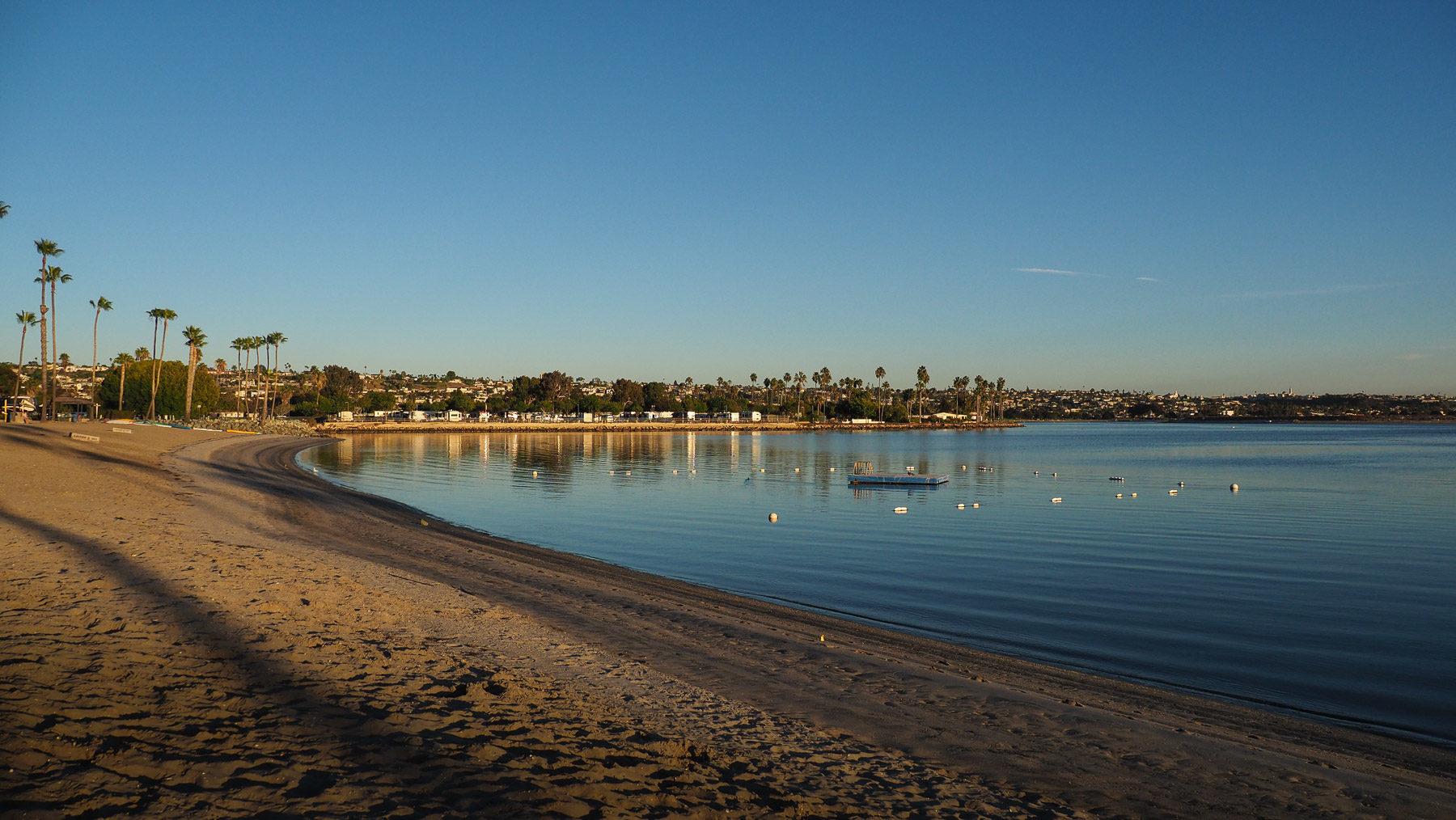 Am Strand von San Diego