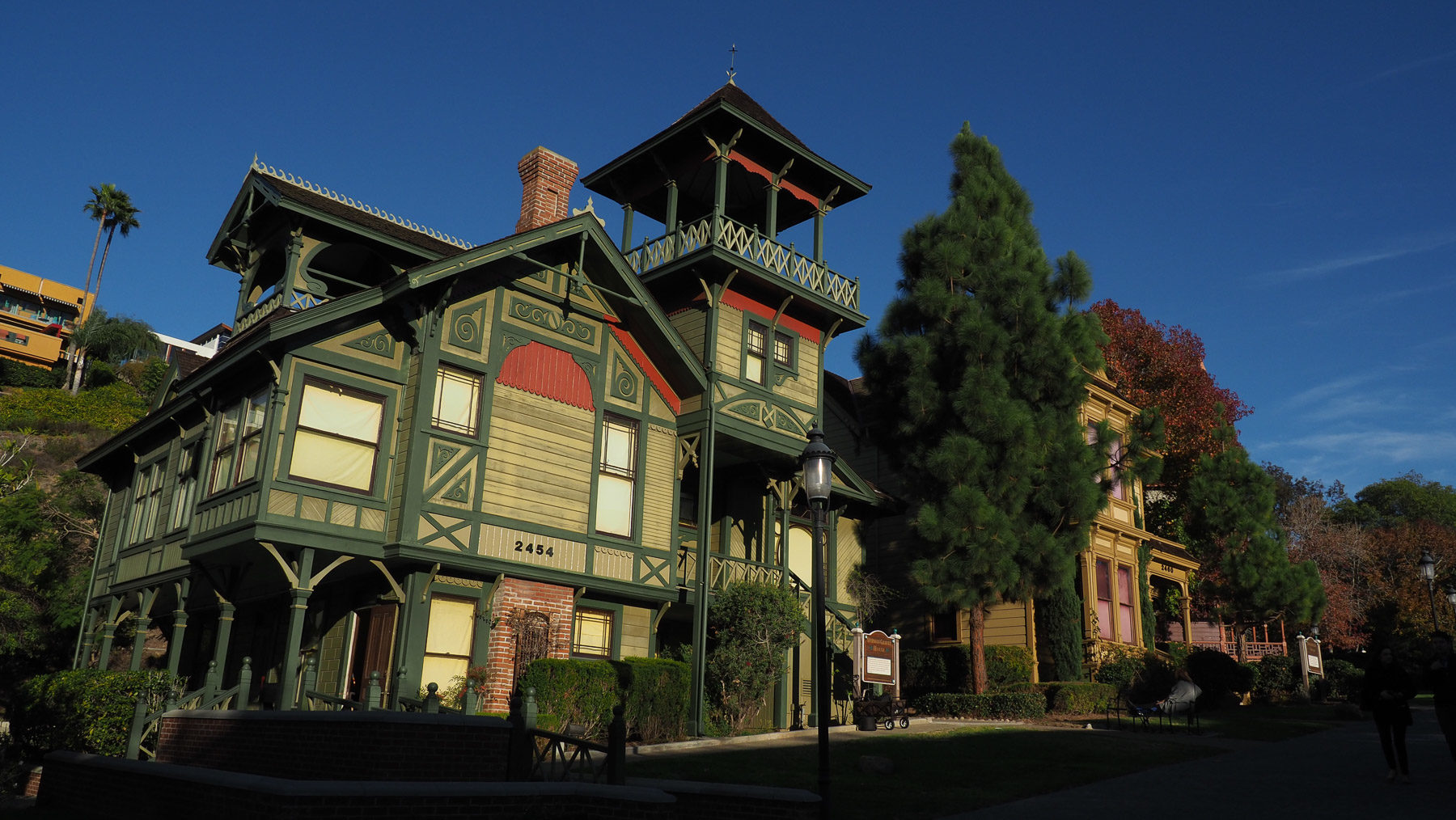 Victorianische Häuser in San Diego