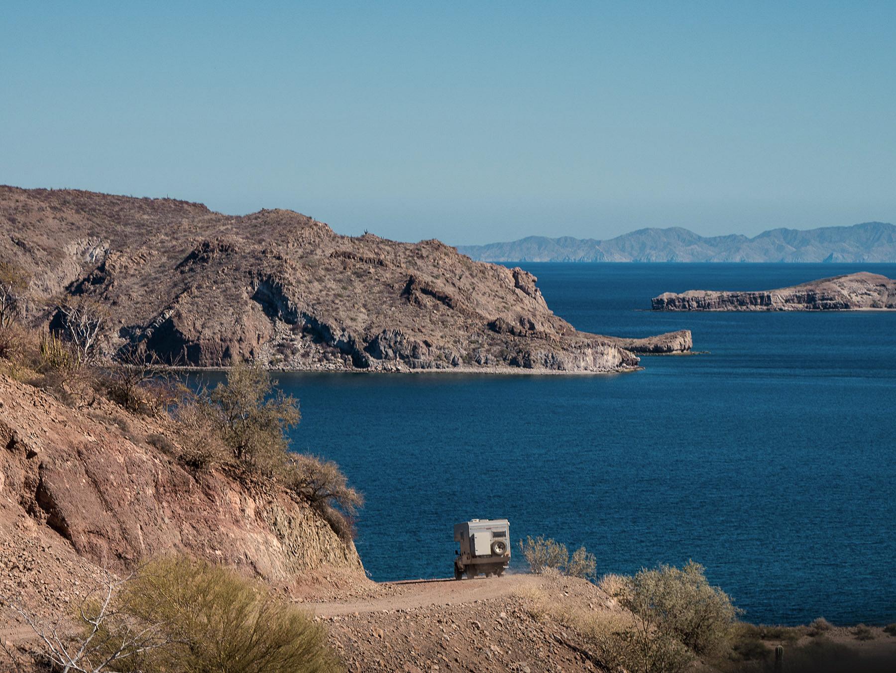 Spannende Fahrt zur Bucht Agua Verde