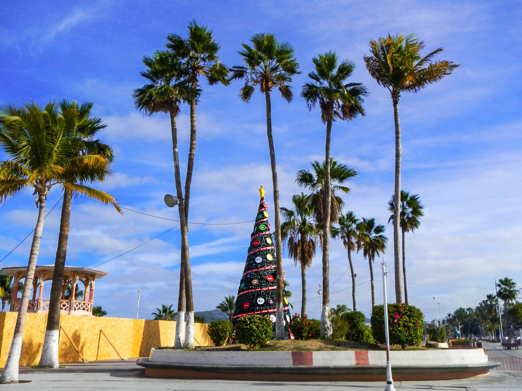 Am von Coca Cola aufgestellten Weihnachtsbaum in La Paz scheiden sich die Geister
