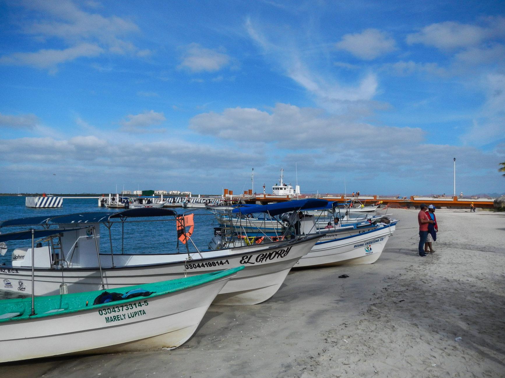 Ausflugsboote am Strand von La Paz