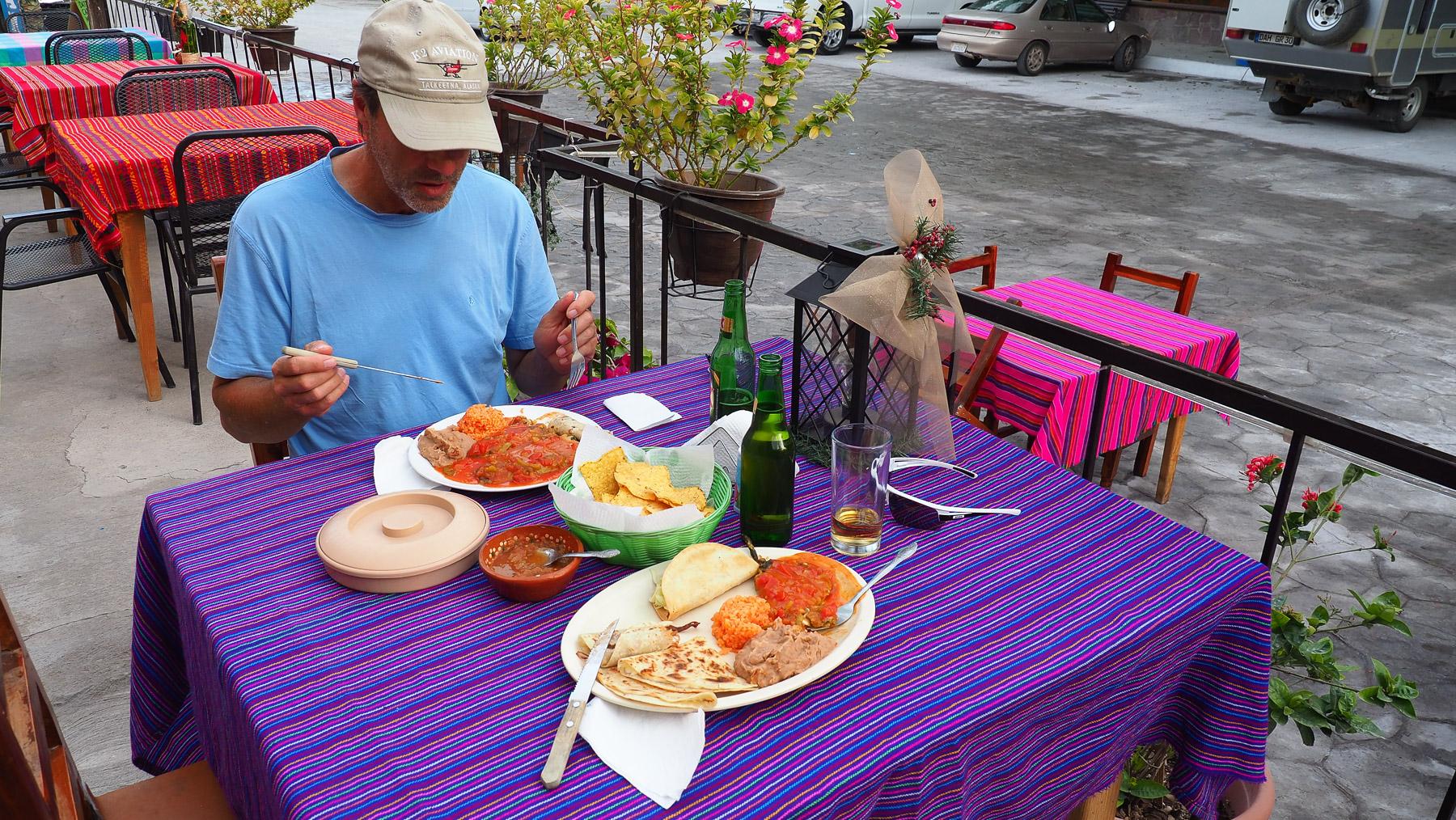 Typisch mexikanisches Mittagessen