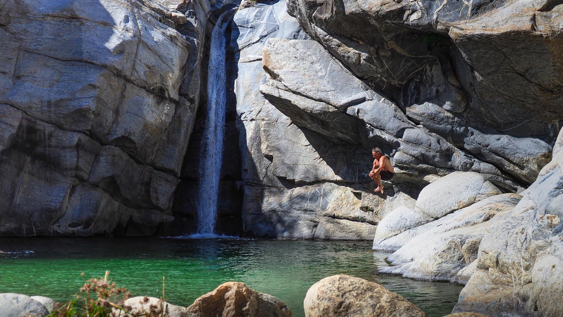 Oase mit Wasserfall und Badetümpel in der Nähe von Los Barriles