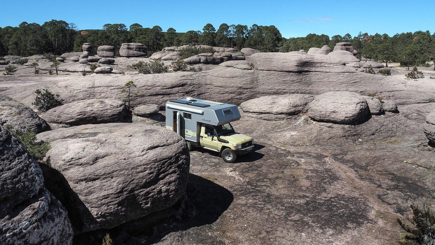 Toller Übernachtungsplatz zwischen den Felsen