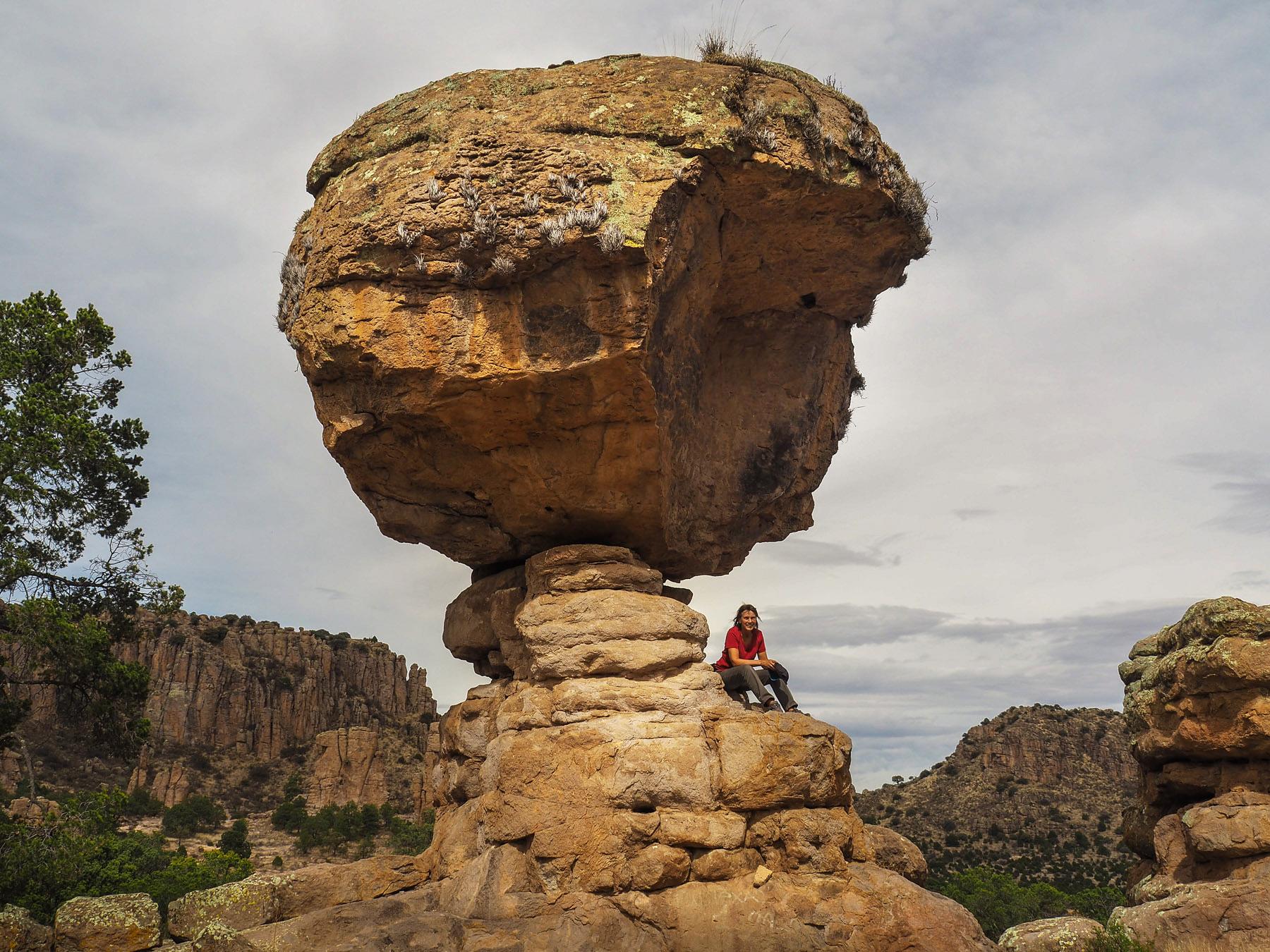 Und auch so lustige Felsen, wie den hier