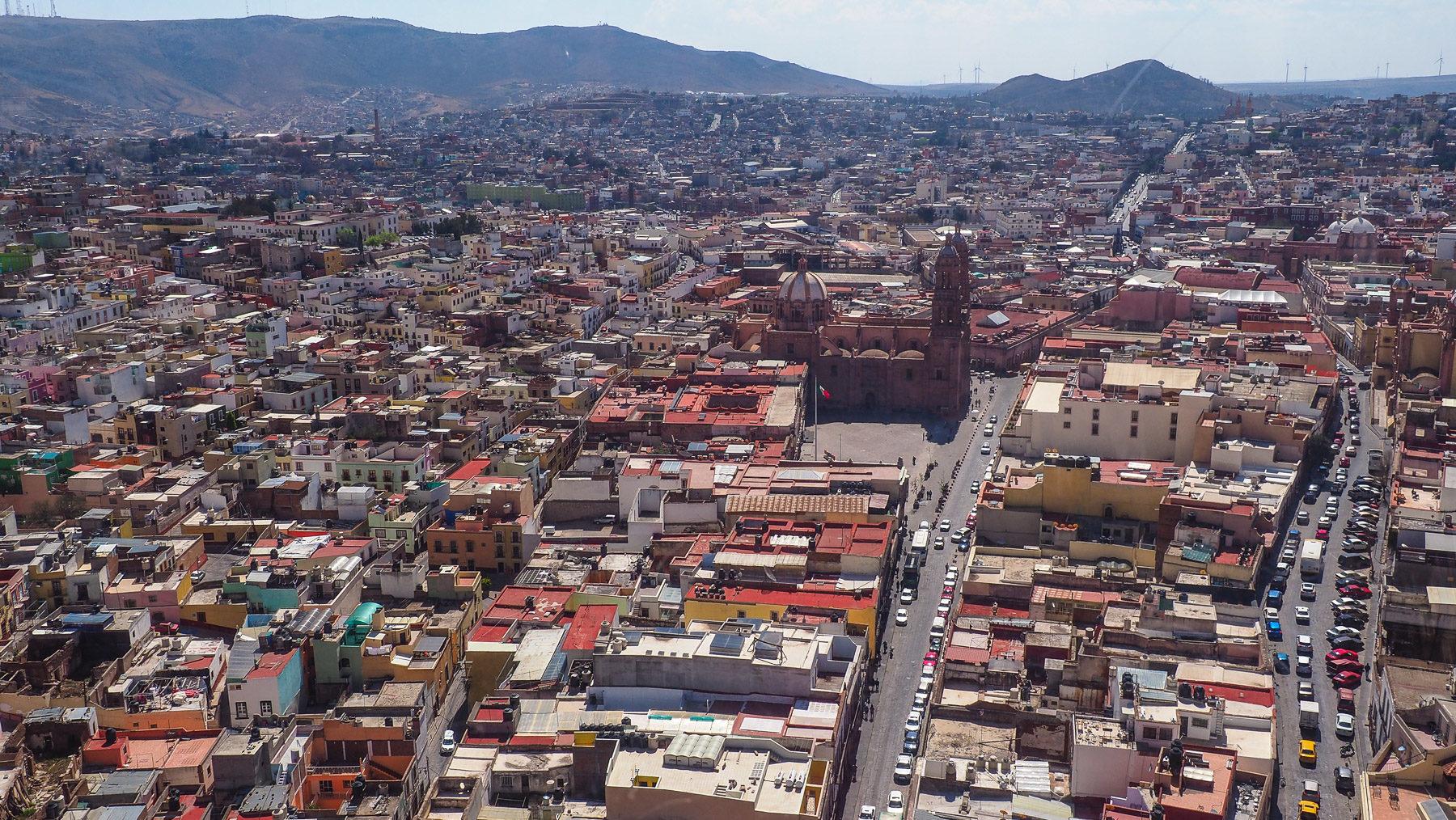Die reiche Silberstadt Zacatecas