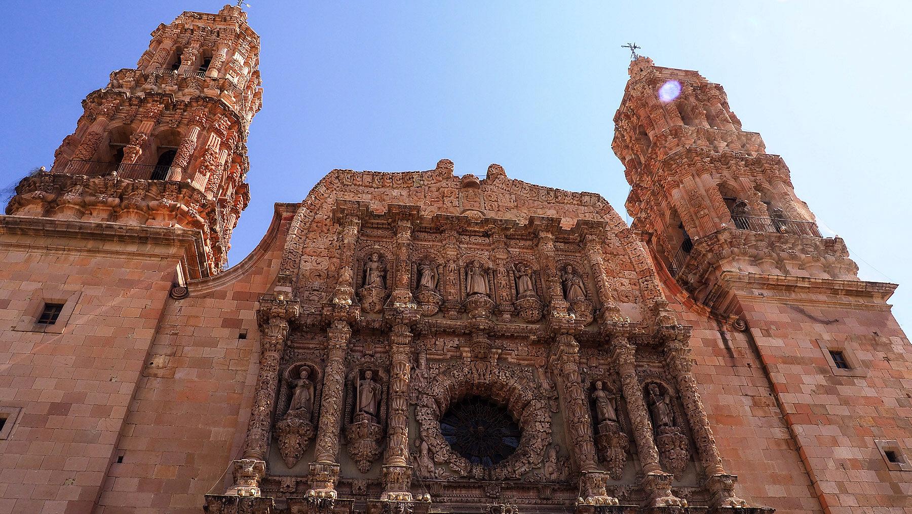 Die Kathedrale von Zacatecas mit prunkvoller Hauptfassade