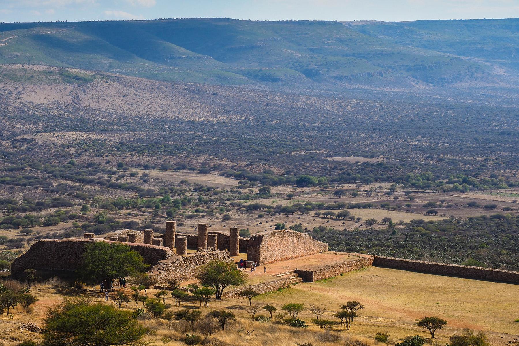 Unsere ersten Atztekenruinen: La Quemada