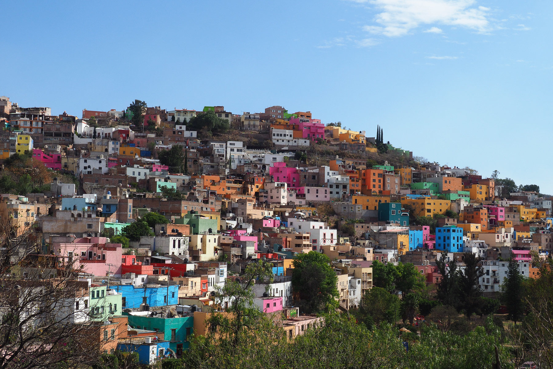 Über viele Hügel erstreckt sich Guanajuato