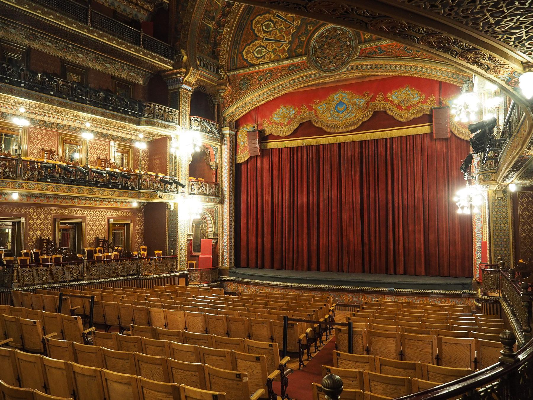 Prunkvolles kleines Teatro Juarez in Guanajuato