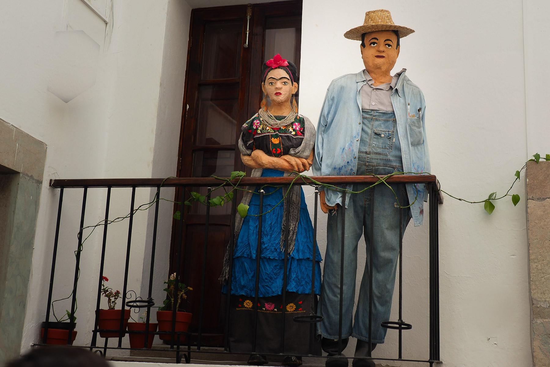 Frida Kalo und Diego Rivera im schönen Rivera Museum in Guanajuato