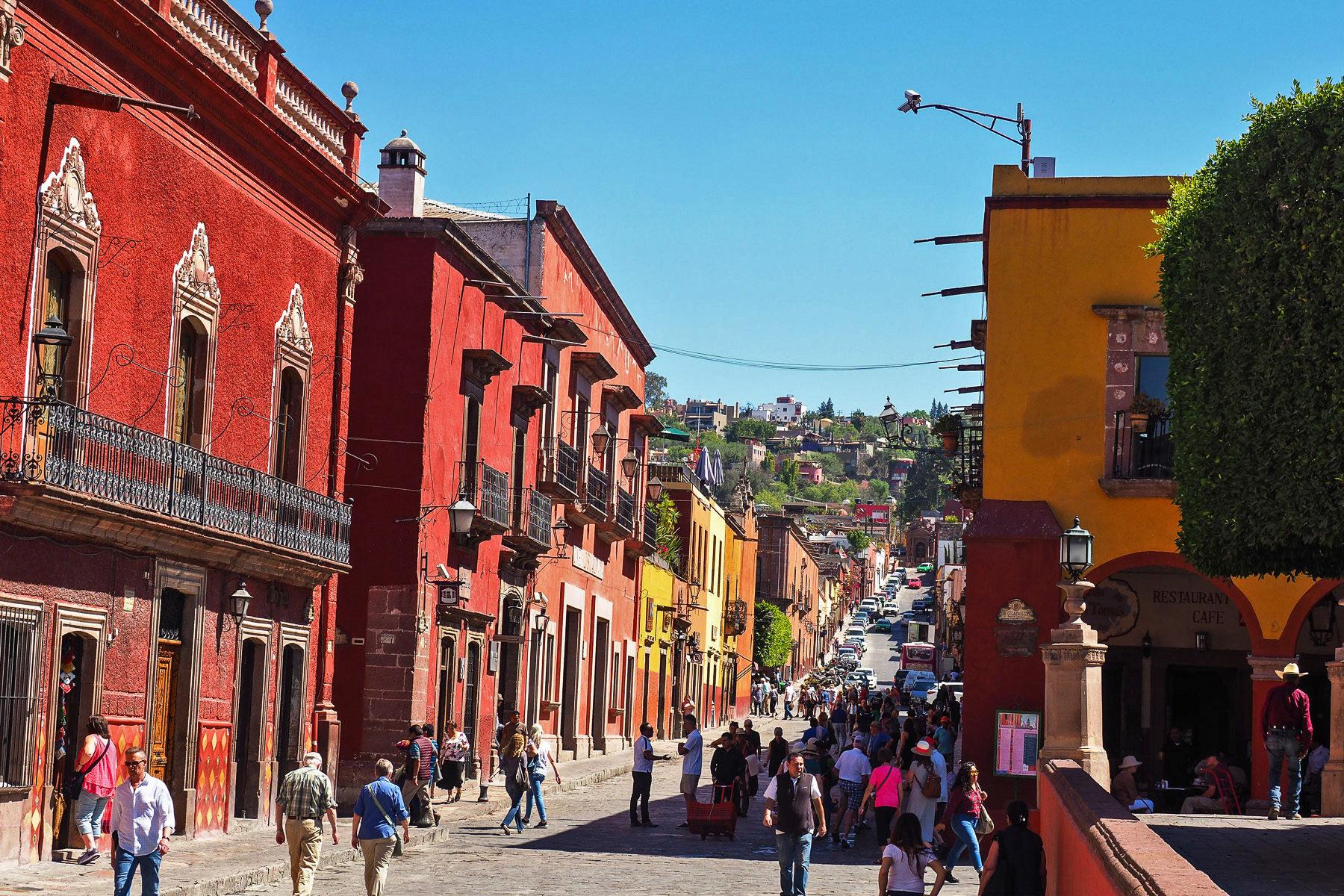 San Miguel de Allende, geschäftige Kleinstadt