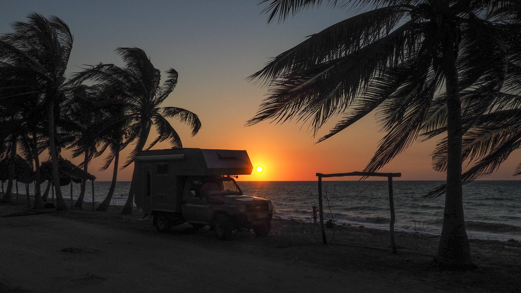 Sonnenuntergang an der Playa de Lorenzo