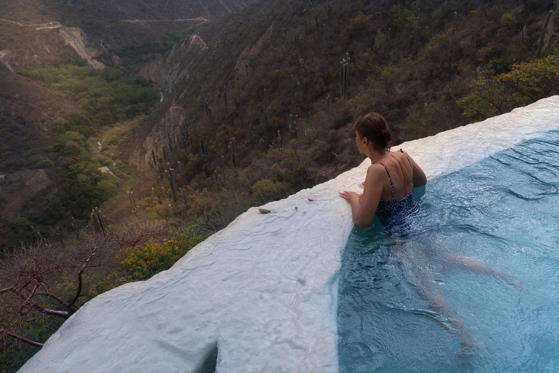 Blick ins Tal in Tolantongo