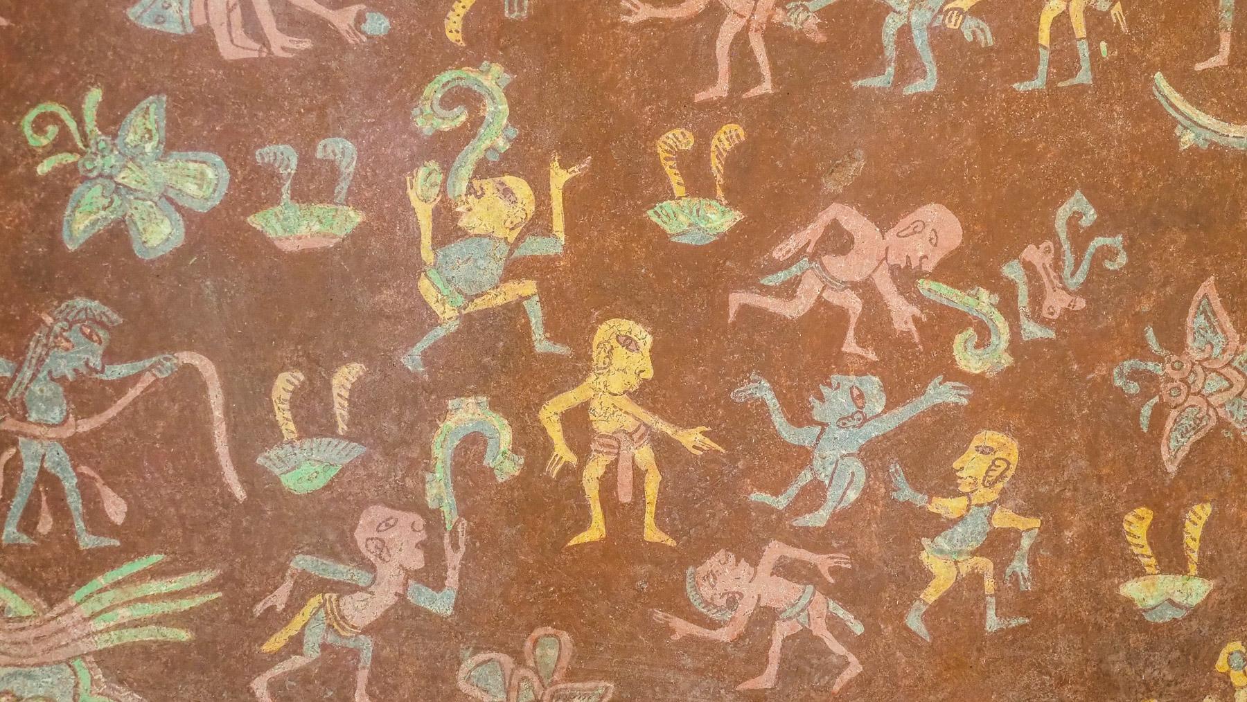 Wandermalerei in Teotihuacan: Darstellung vom Paradies