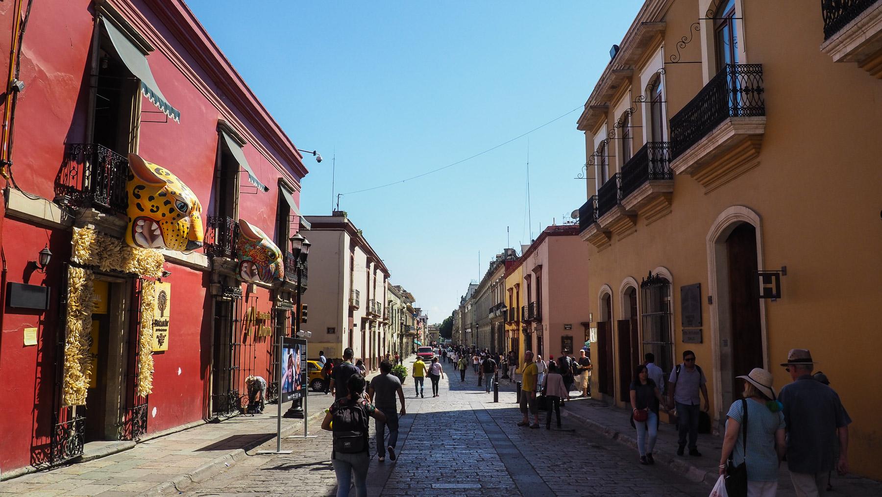 Hübsche Straßen in Oaxaca