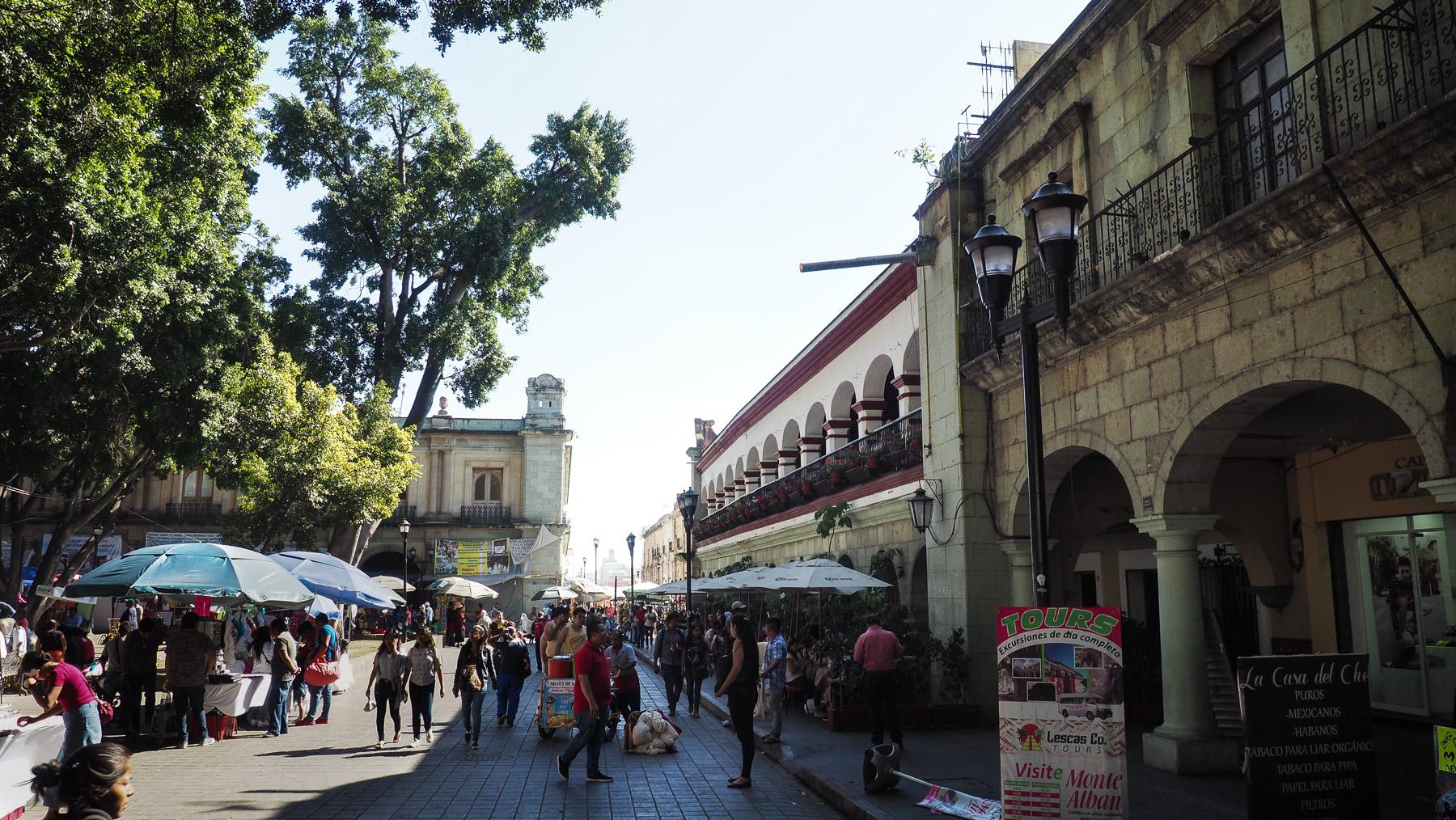 Der Hauptplatz von Oaxaca