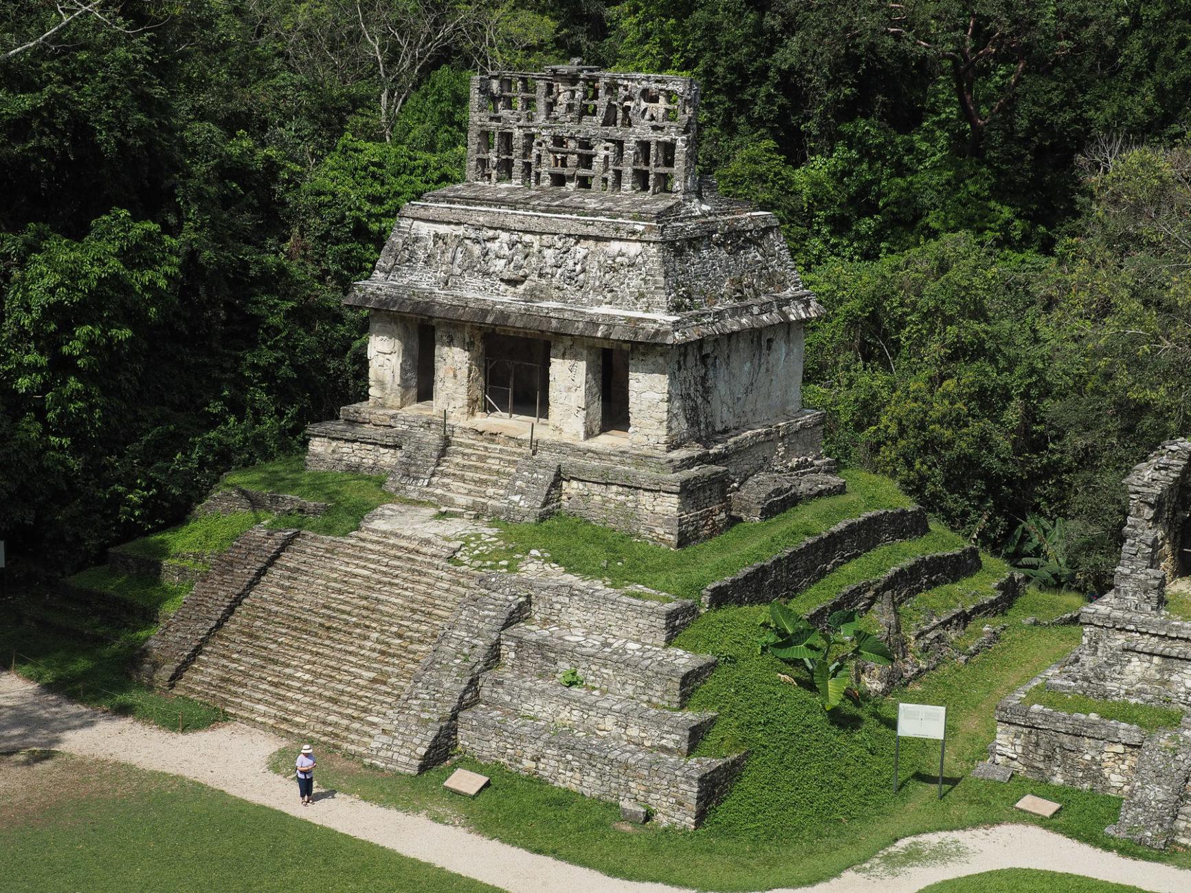 Palenque, nur 5 % der Anlage sind restauriert
