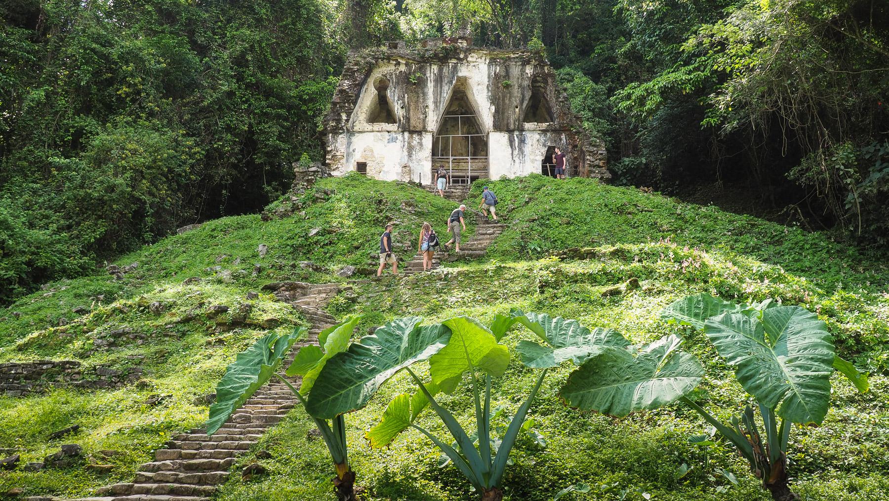 Einer der ältesten Tempel in Palenque